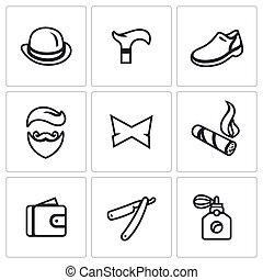 Vector Set of Gentleman Icons