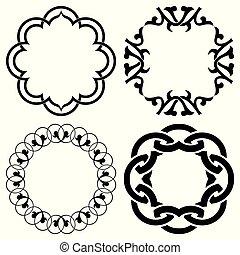 Vector set of geometric design elements