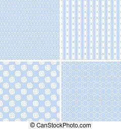 Vector set of geometric ornamental patterns