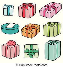 vector set of gift box