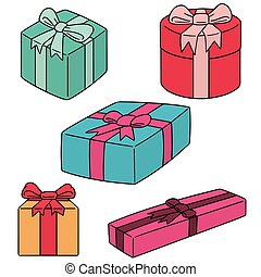 vector set of gift box