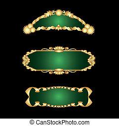 Vector set of golden frames