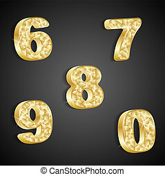 Vector set of golden numbers