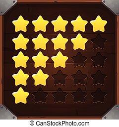 Vector Set of Golden Rating Stars
