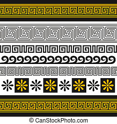 greece ornament - vector set of greece ornaments, you can...
