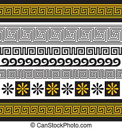 greece ornament - vector set of greece ornaments, you can ...