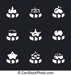 Vector Set of Greed Icons. - Land, money, food, resources,...