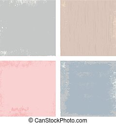 Vector set of grunge old paper textures