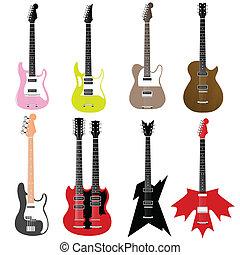 guitars - vector set of guitars