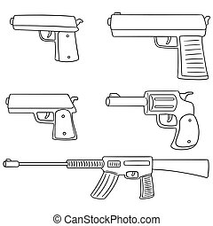 vector set of gun