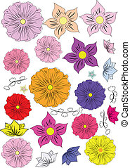 set-of-hand-drawing-flowers