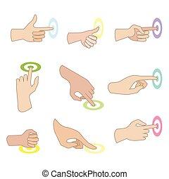 Vector set of hand gestures.