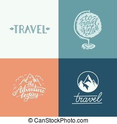 Vector set of hand-lettering designs