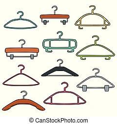 vector set of hangers