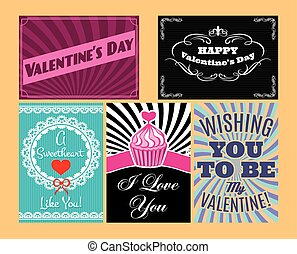 vector set of Happy valentines day