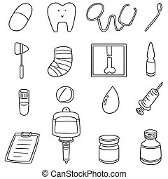 vector set of healthcare icon