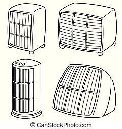 vector set of heater