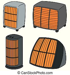 vector set of heater