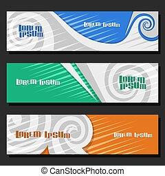 Vector set of horizontal futuristic Banners