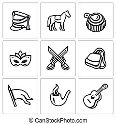 Vector Set of Hussars Icons