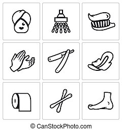 Vector Set of Hygiene Icons