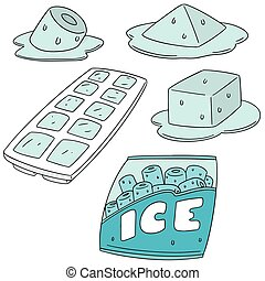 vector set of ice