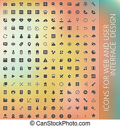 vector set of icons for web and user interface design