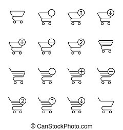 Vector set of icons shopping cart.