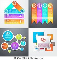 Vector set of infographics.