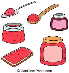 vector set of jam