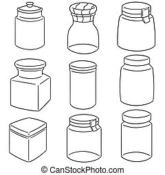 vector set of jar