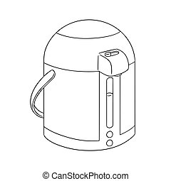 vector set of kettle