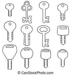 vector set of key