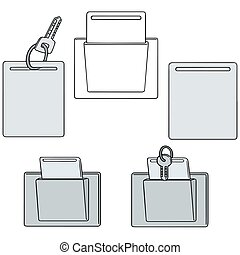 vector set of keycard