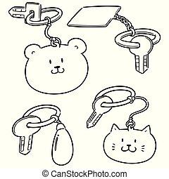 vector set of keychain