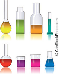 laboratory glassware - vector set of laboratory glassware