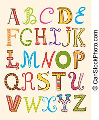 Vector set of letters.