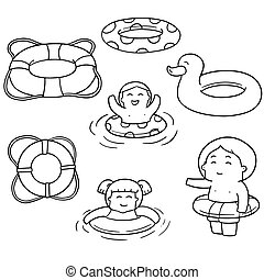 vector set of life ring