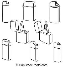 vector set of lighter