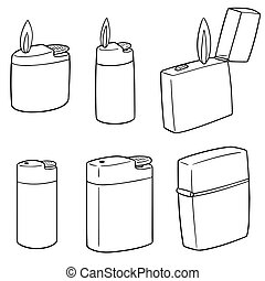 vector set of lighter