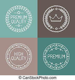 Vector set of line badges and logos - premium quality...