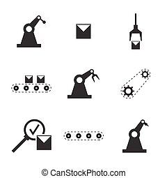 Vector set of linear icons.