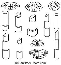 vector set of lipsticks