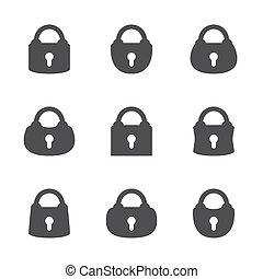 Vector set of lock.