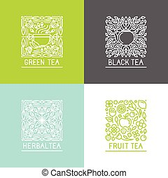 Vector set of logo design templates and badges in trendy...