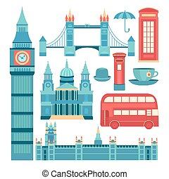 Vector set of London