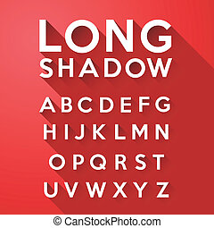 long flat shadow alphabet