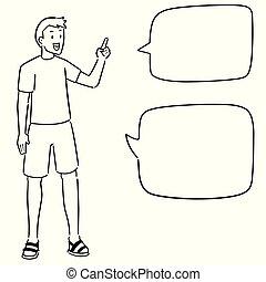 vector set of man talking