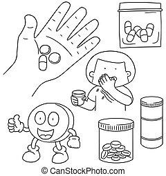 vector set of medicine