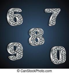 Vector set of metallic numbers